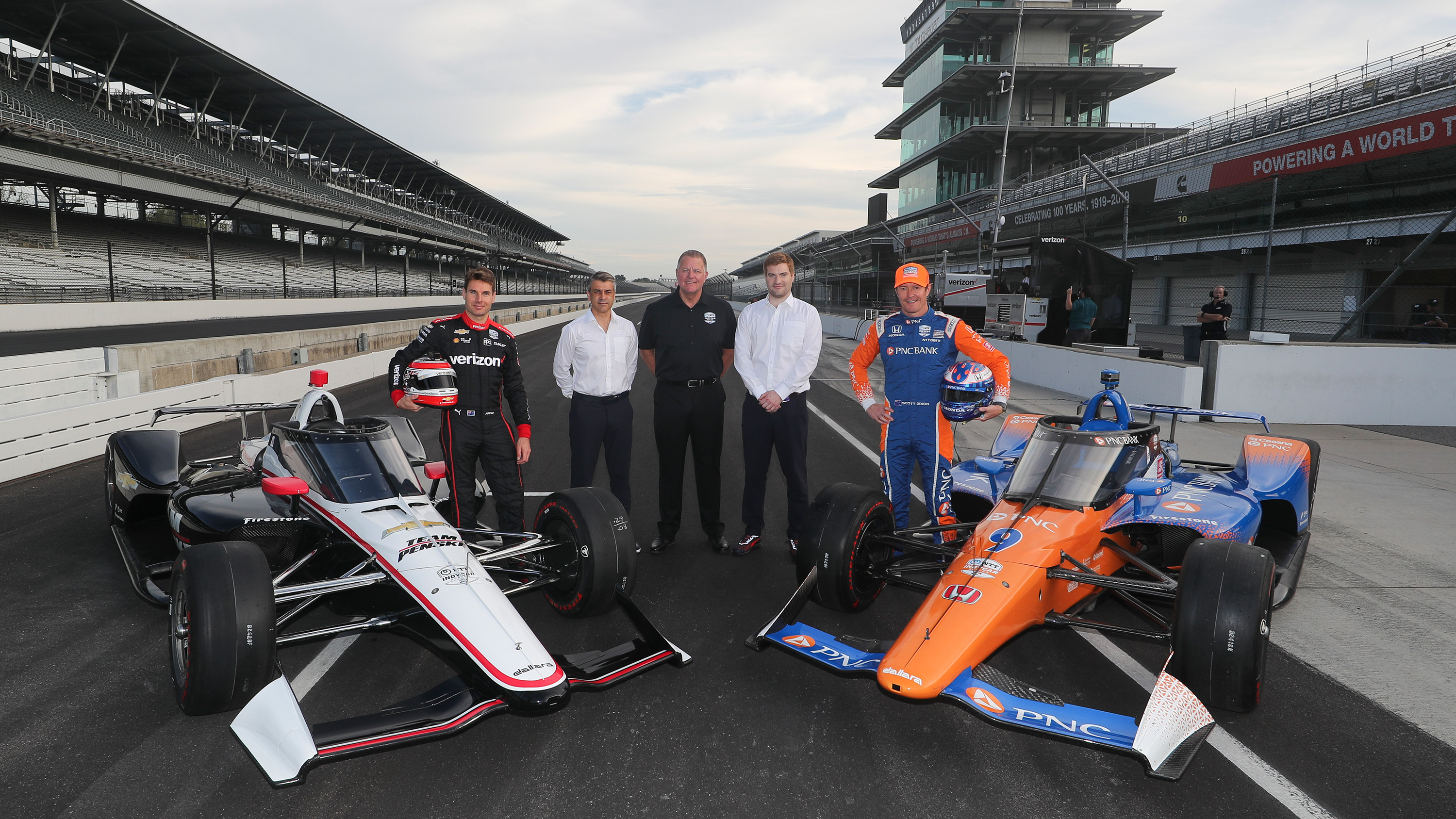 INDYCAR test the Aeroscreen at Indianapolis Motor Speedway